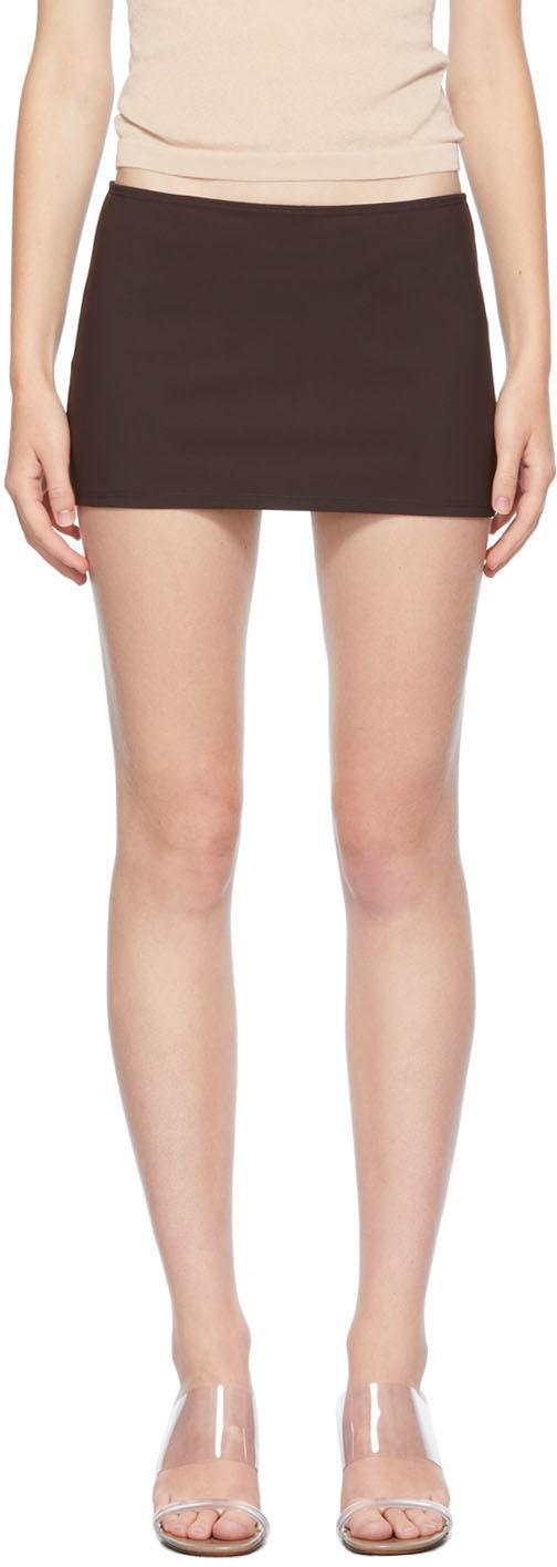 SSENSE Exclusive Brown Bisou Miniskirt