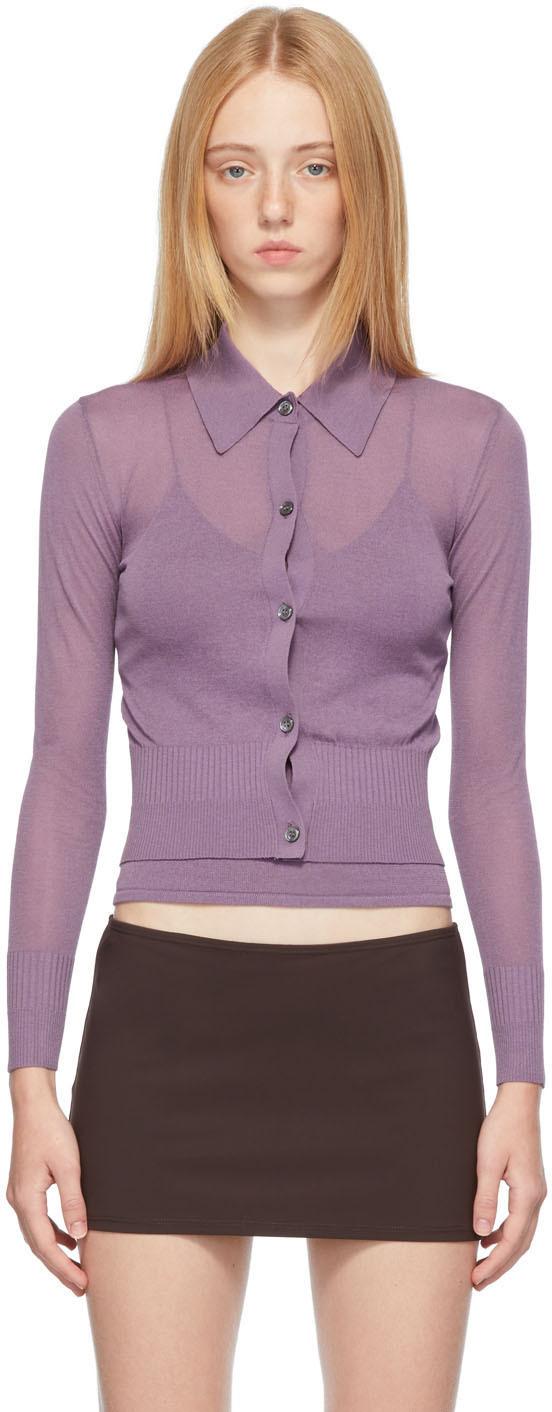SSENSE Exclusive Purple Ceylon Cardigan