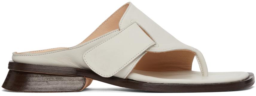 SSENSE Exclusive White Tupelo Sandals