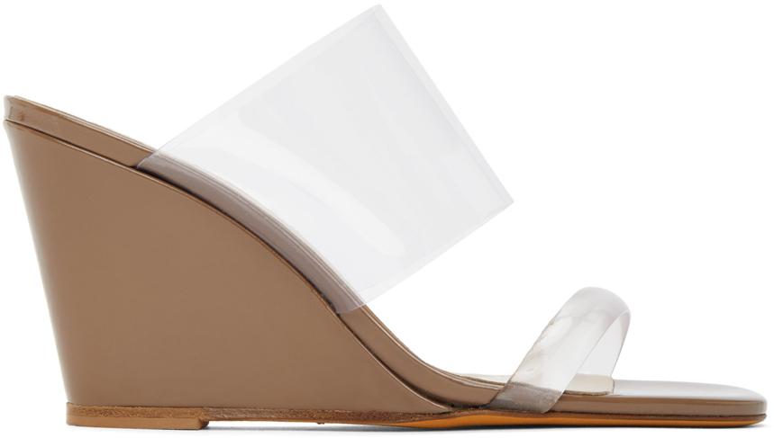 Tan Olympia Wedge Sandals