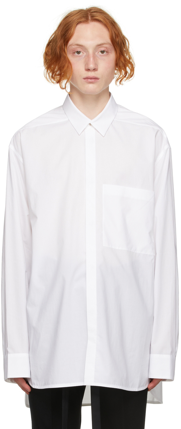 White Easy Collared Shirt