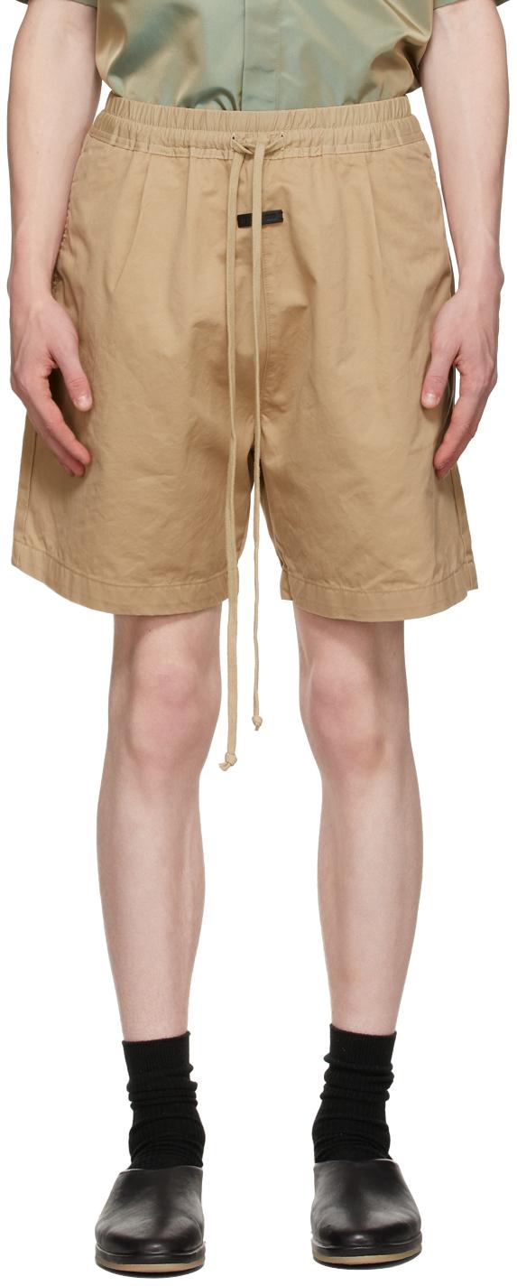 Beige Trouser Shorts
