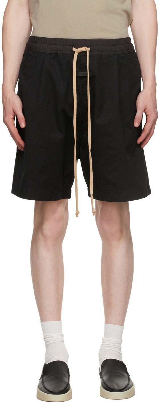 Black Trouser Shorts
