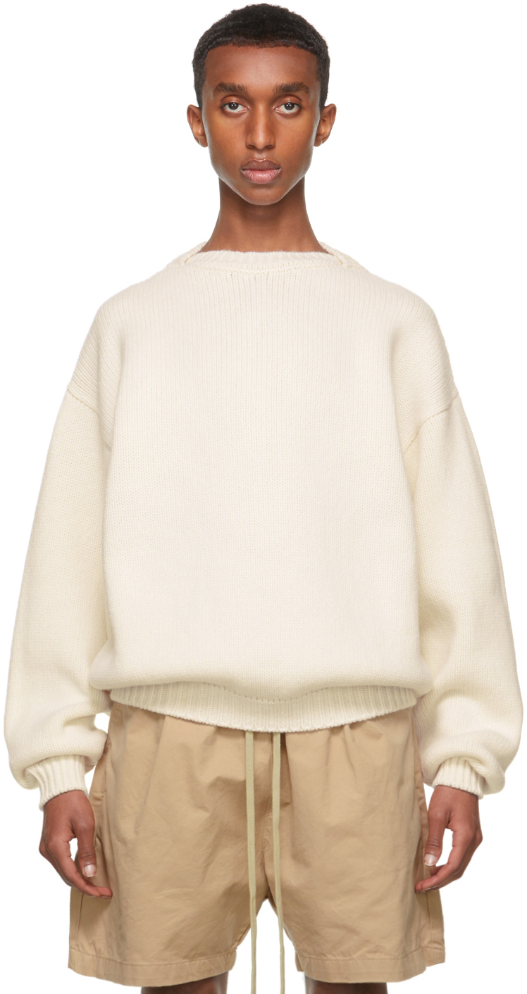 White Overlapped Sweater