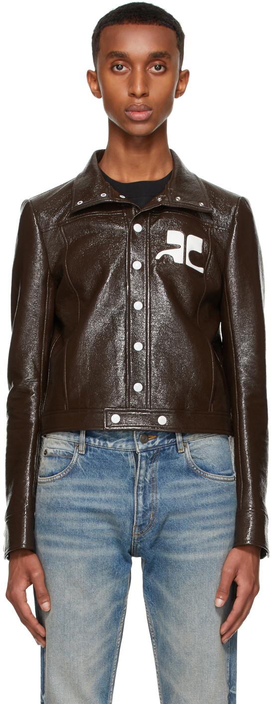 Brown Vinyl Jacket