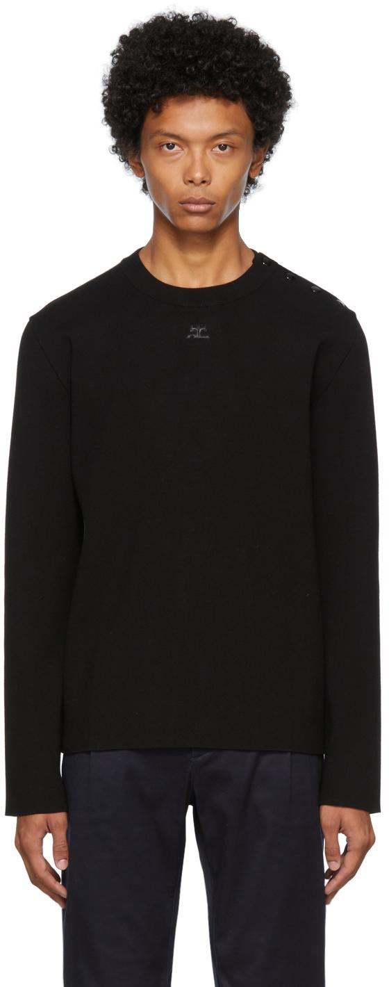 Black Snap Sweater