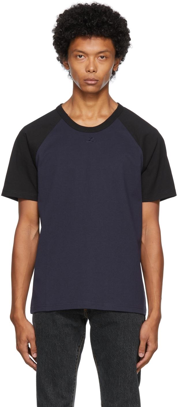 Navy & Black Logo T-Shirt