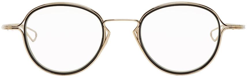 Gold & Black Haliod Glasses