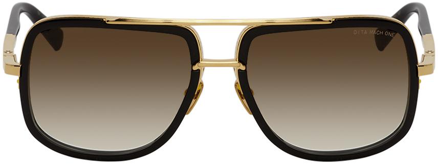 Black & Gold Mach-One Sunglasses