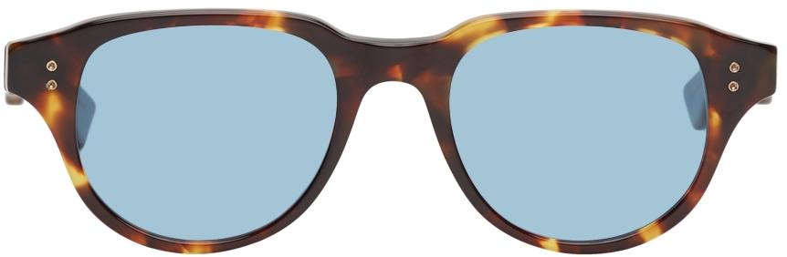 Tortoiseshell & Blue Telehacker Sunglasses
