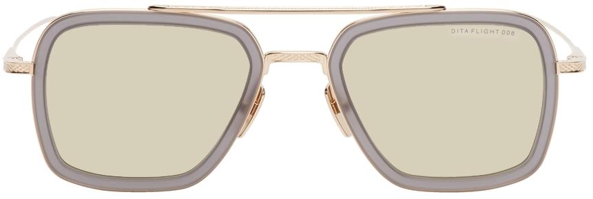 Grey & Gold Flight.006 Sunglasses