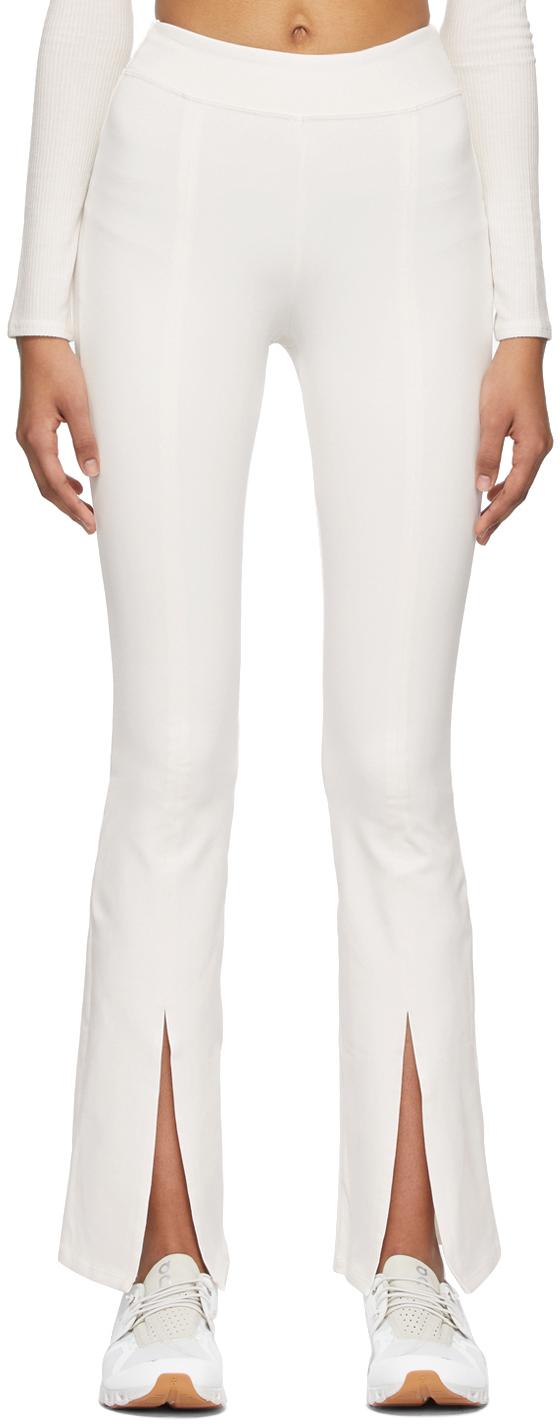 White Airbrush High-Waist Flutter Leggings