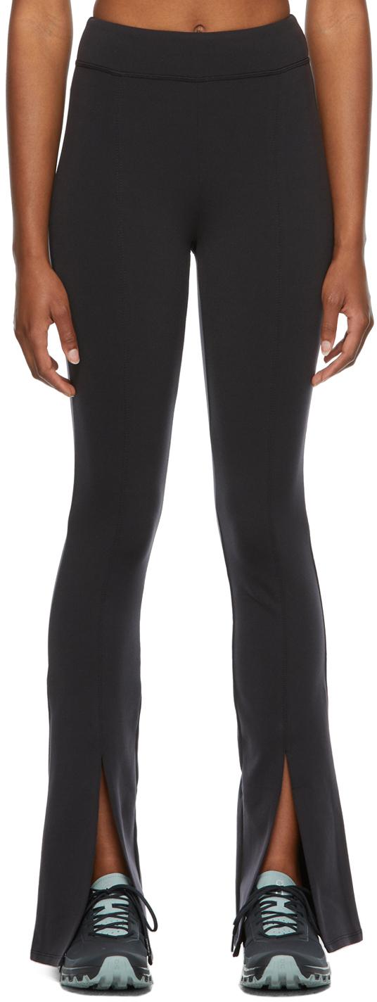 Black High-Rise Airbrush Flutter Sport Leggings