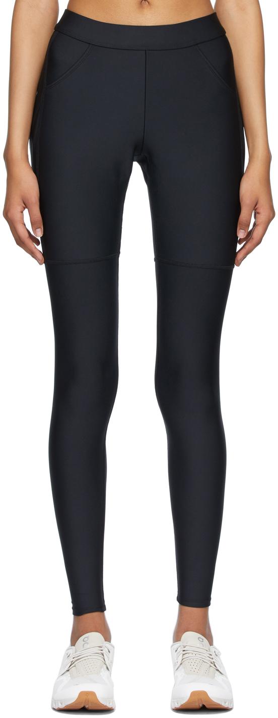 Black High-Waist Four Pocket Utility Leggings