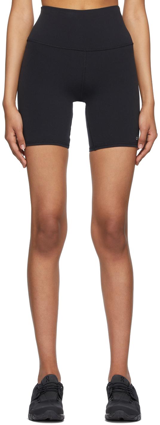 Black High-Waist Biker Shorts