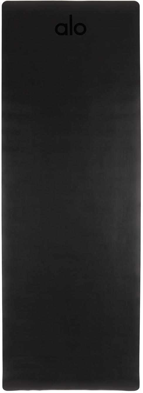 Black Logo Warrior Yoga Mat