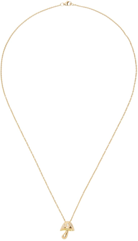 Gold & Diamond Mini Magic Mushroom Necklace