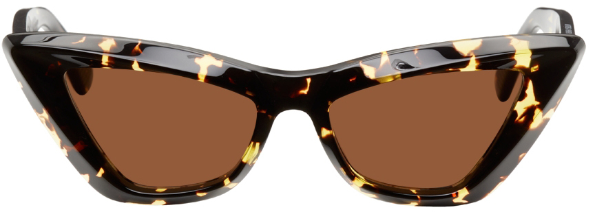 Tortoiseshell Acetate Pointed Cat-Eye Sunglasses
