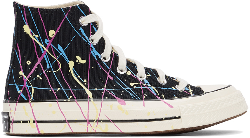 Black Archive Paint Splatter Chuck 70 Sneakers