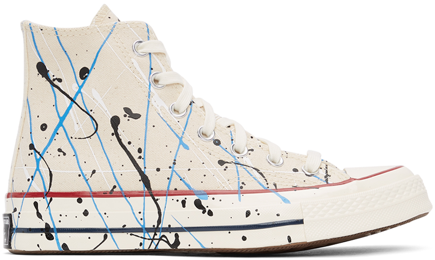 Off-White Archive Paint Splatter Chuck 70 High Sneakers
