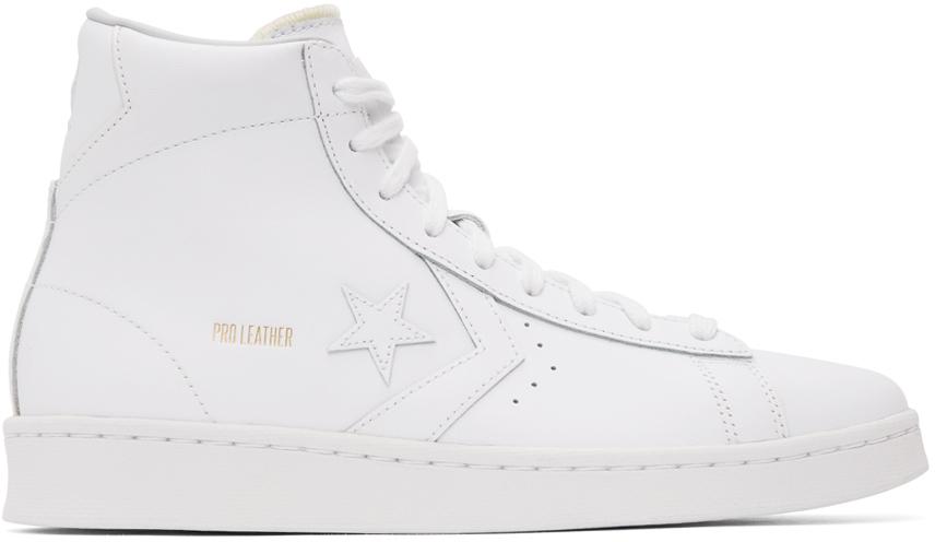 Converse 白色 Pro Leather 高帮运动鞋