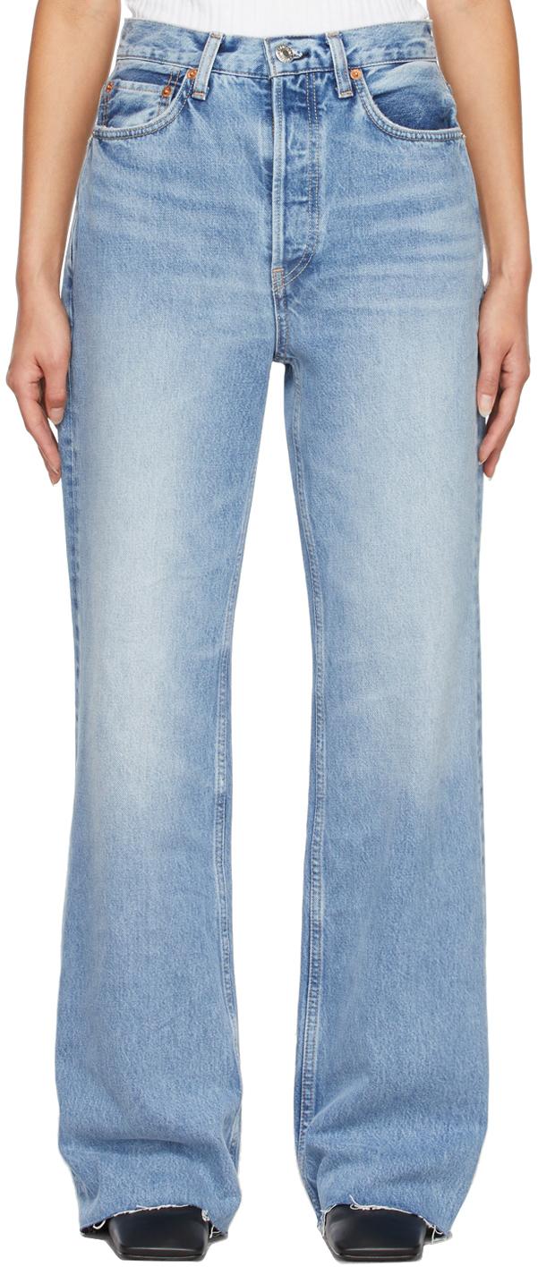 Blue 70s Ultra High Rise Wide Leg Jeans