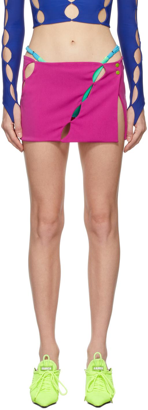 SSENSE Exclusive Pink Cut Out Miniskirt