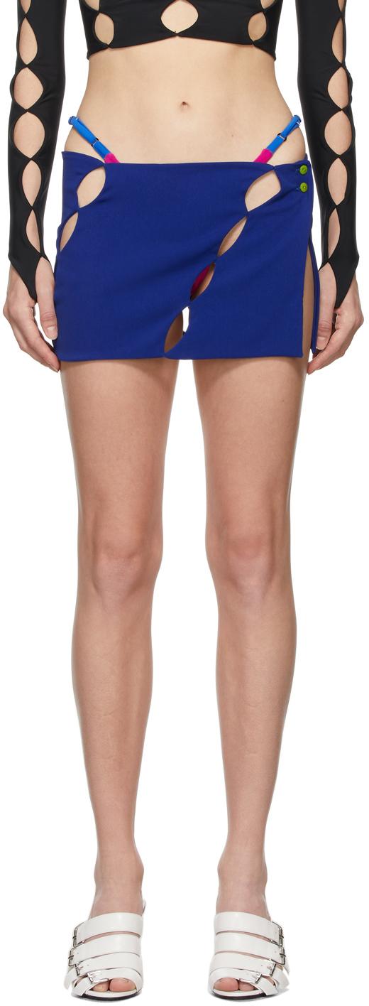 SSENSE Exclusive Blue Cut Out Miniskirt