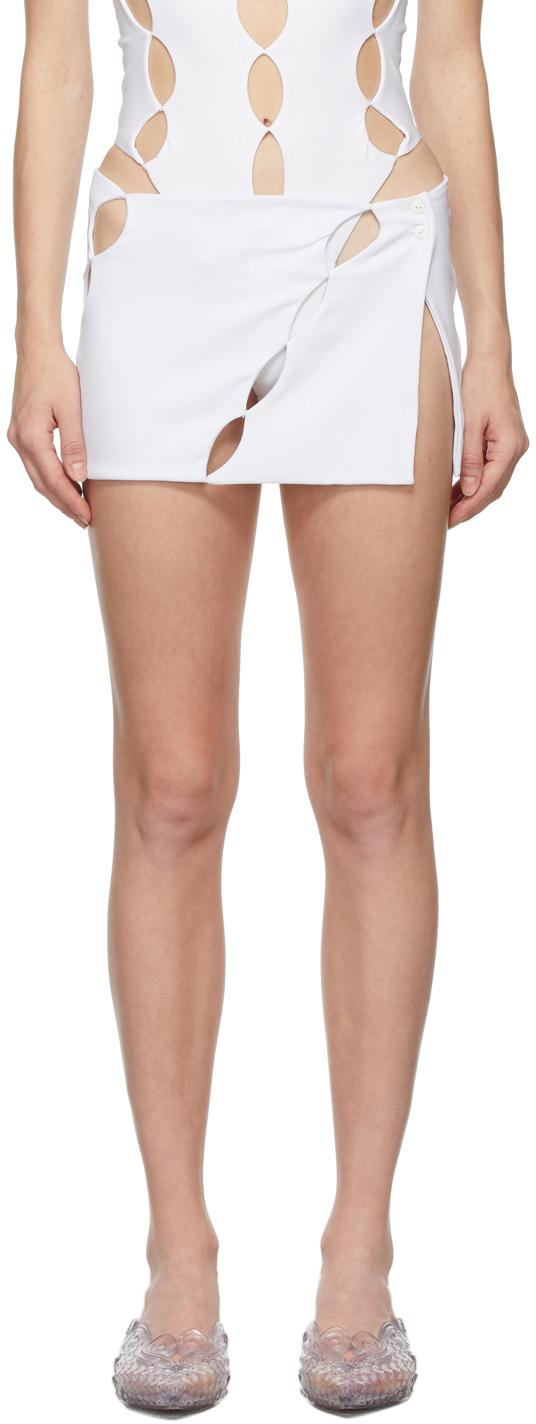SSENSE Exclusive White Cut Out Miniskirt