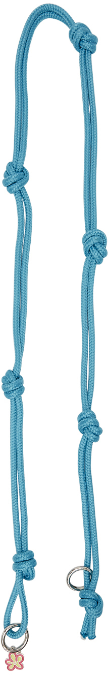 Blue Knotted Bag Strap