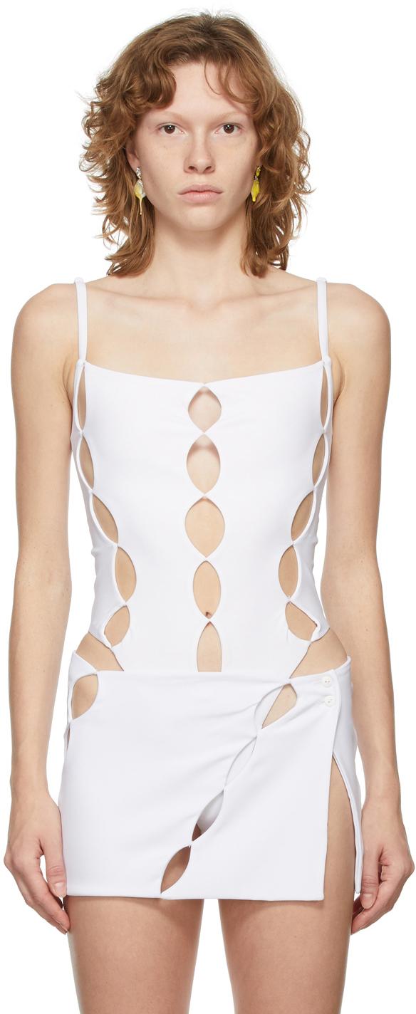 SSENSE Exclusive White Cut Out Bodysuit