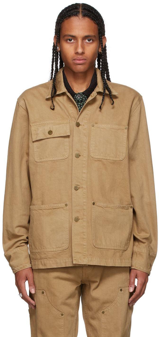 Khaki Selvedge Chore Jacket