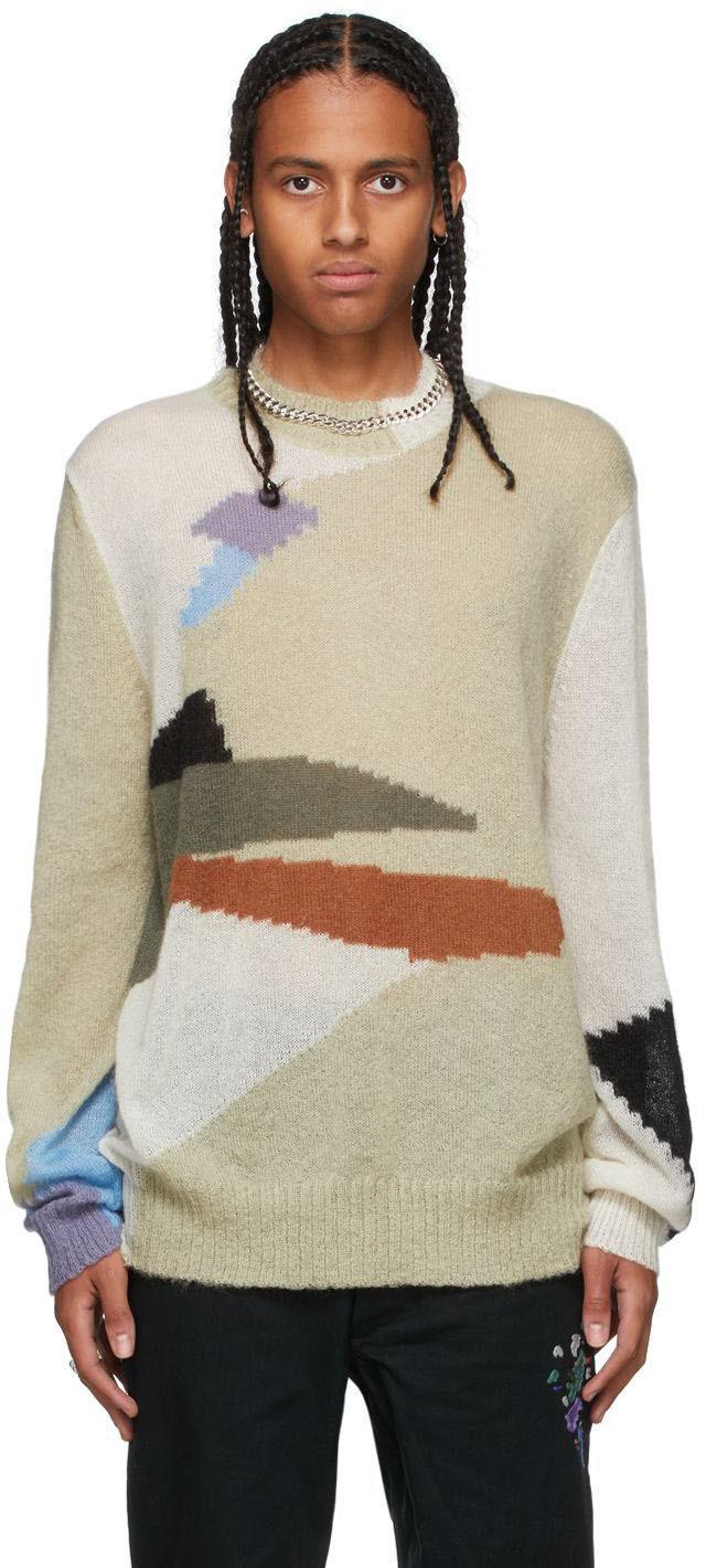 Multicolor Mohair Camo Landscape Sweater