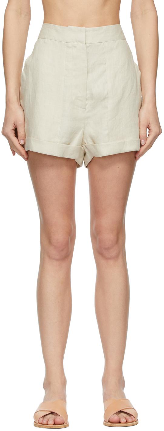 Off-White Linen Brindisi Shorts