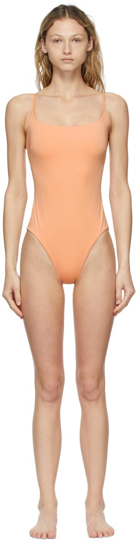 Orange Rose One-Piece Swimsuit
