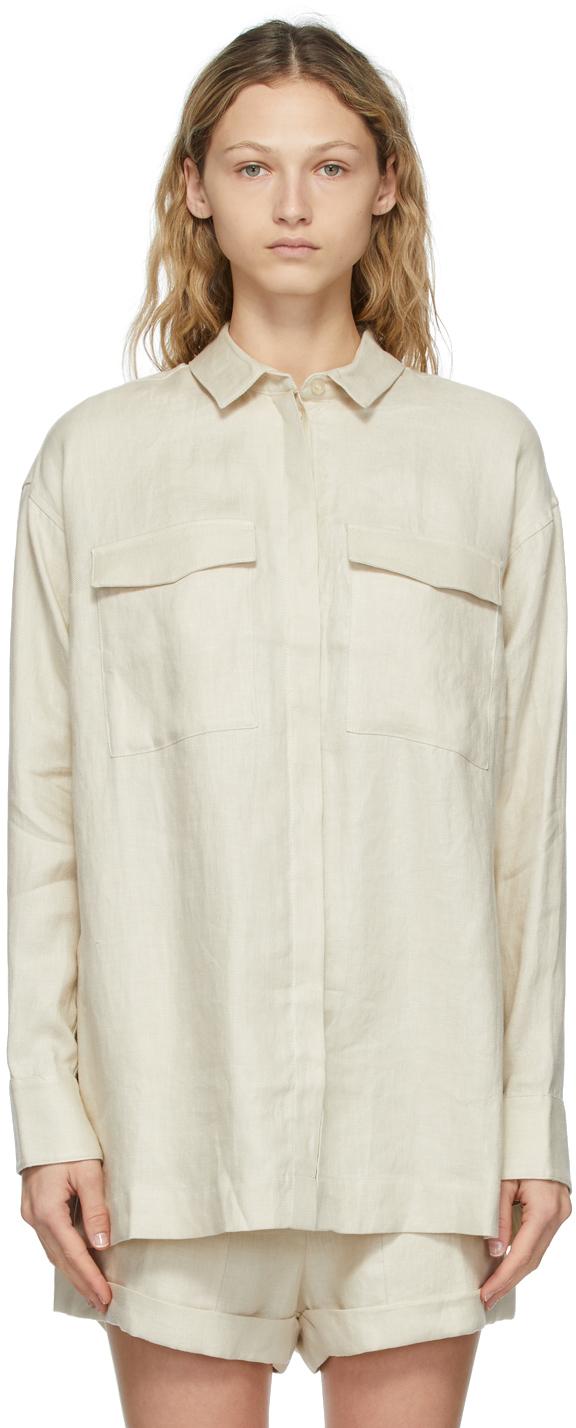 Off-White Linen Bari Shirt