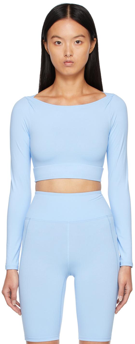 Blue Amara Long Sleeve Sport Top