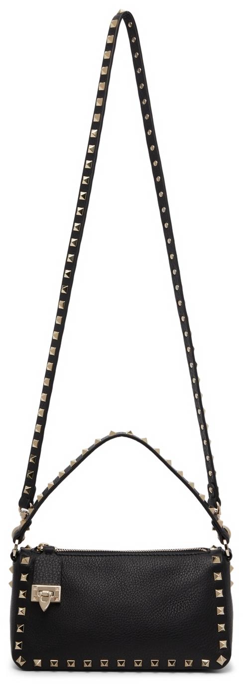 Valentino Garavani Black Small Rockstud Crossbody Bag