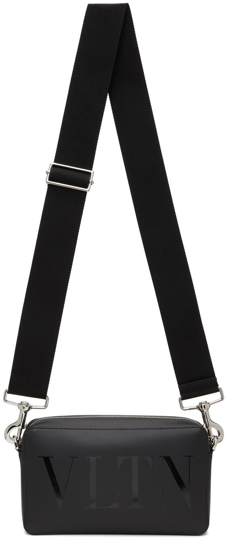 Valentino Garavani Black 'VLTN' Crossbody Bag