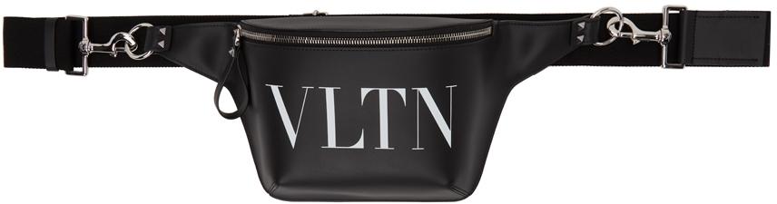 Valentino Garavani Black 'VLTN' Belt Bag