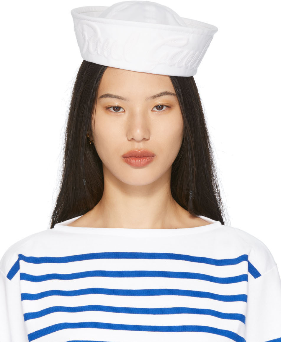 White Cotton Sailor Cap