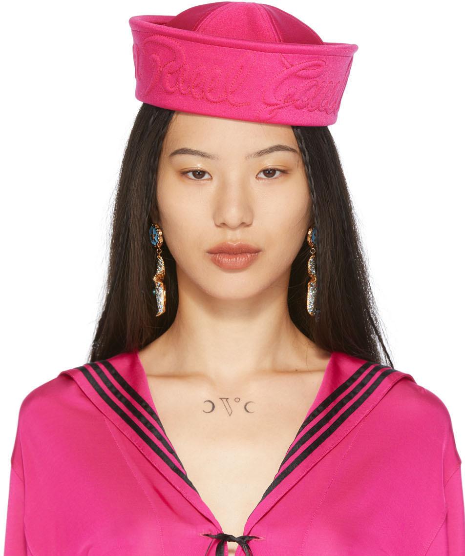 Pink Neoprene Sailor Cap