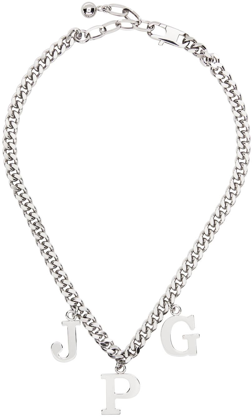 SSENSE Exclusive Silver Les Marins 'JPG' Necklace