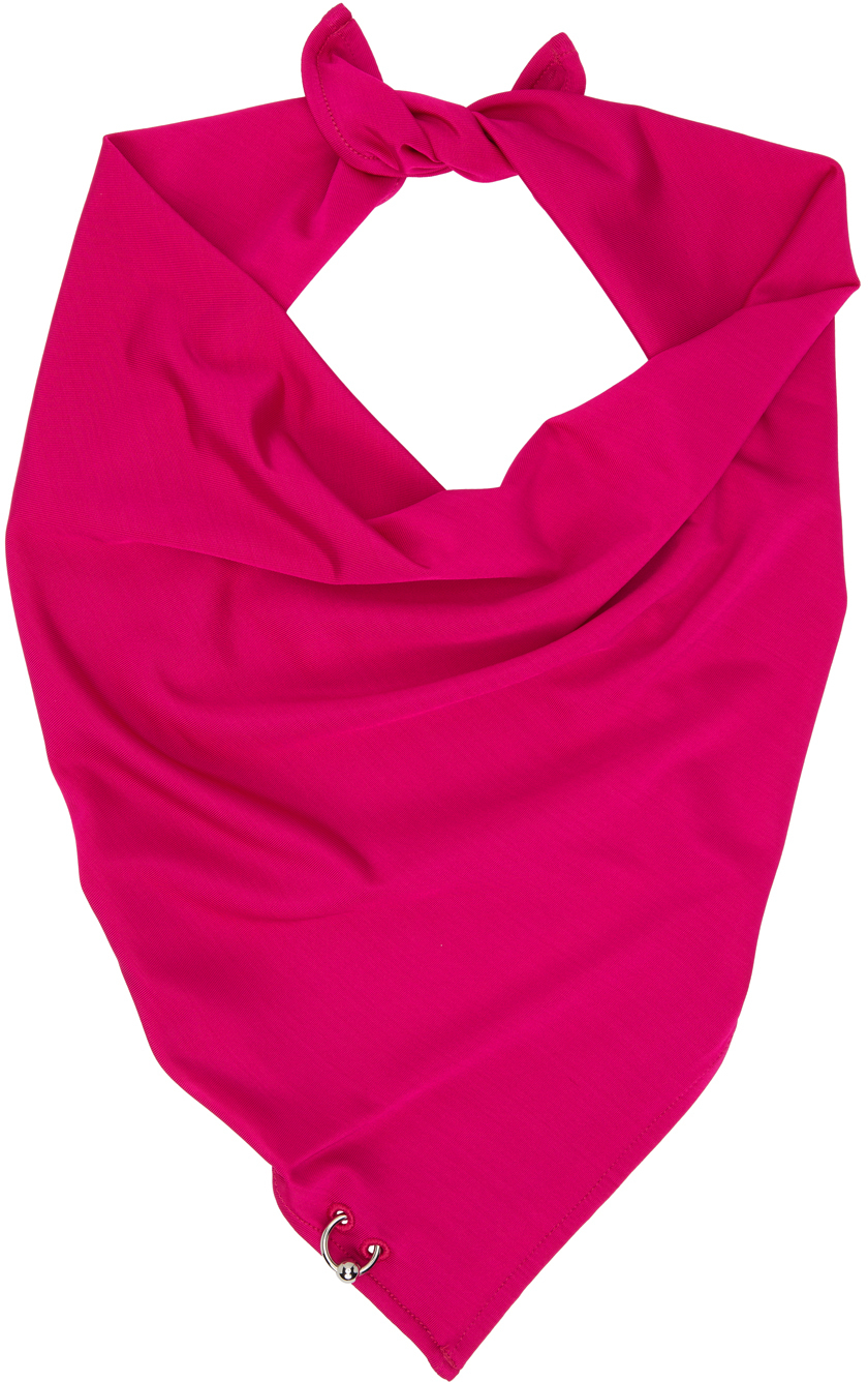 SSENSE Exclusive Pink Les Marins Piercing Scarf