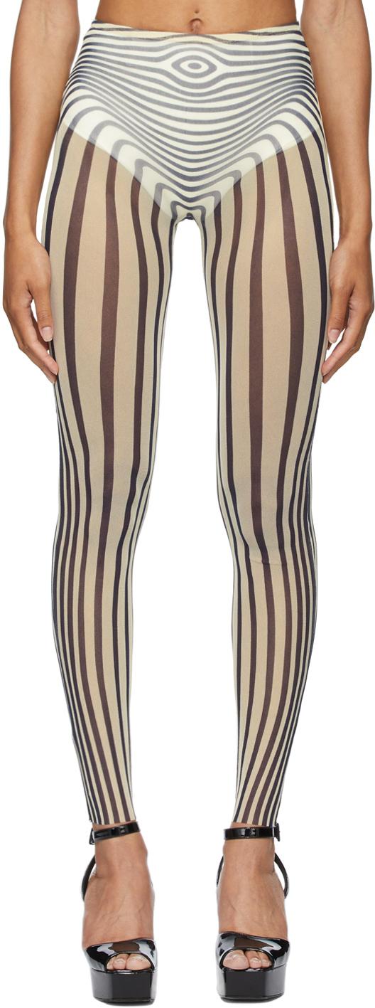 SSENSE Exclusive Off-White & Navy Les Marins Body Stripe Leggings
