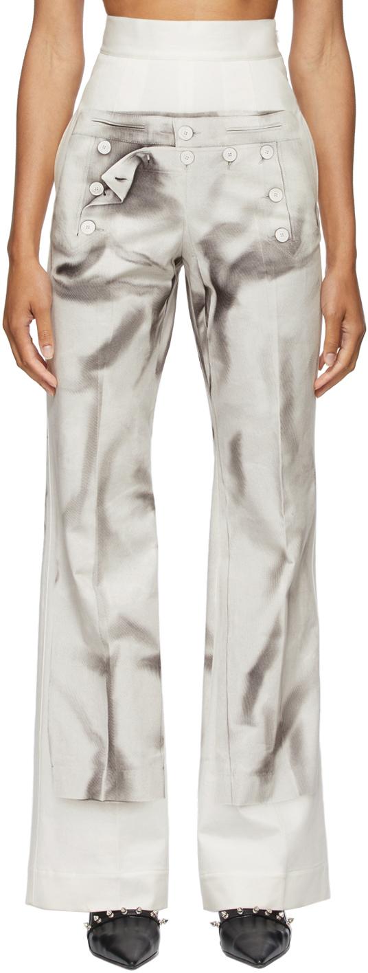 SSENSE Exclusive Off-White Les Marins Trompe L'oeil Bridges Trousers