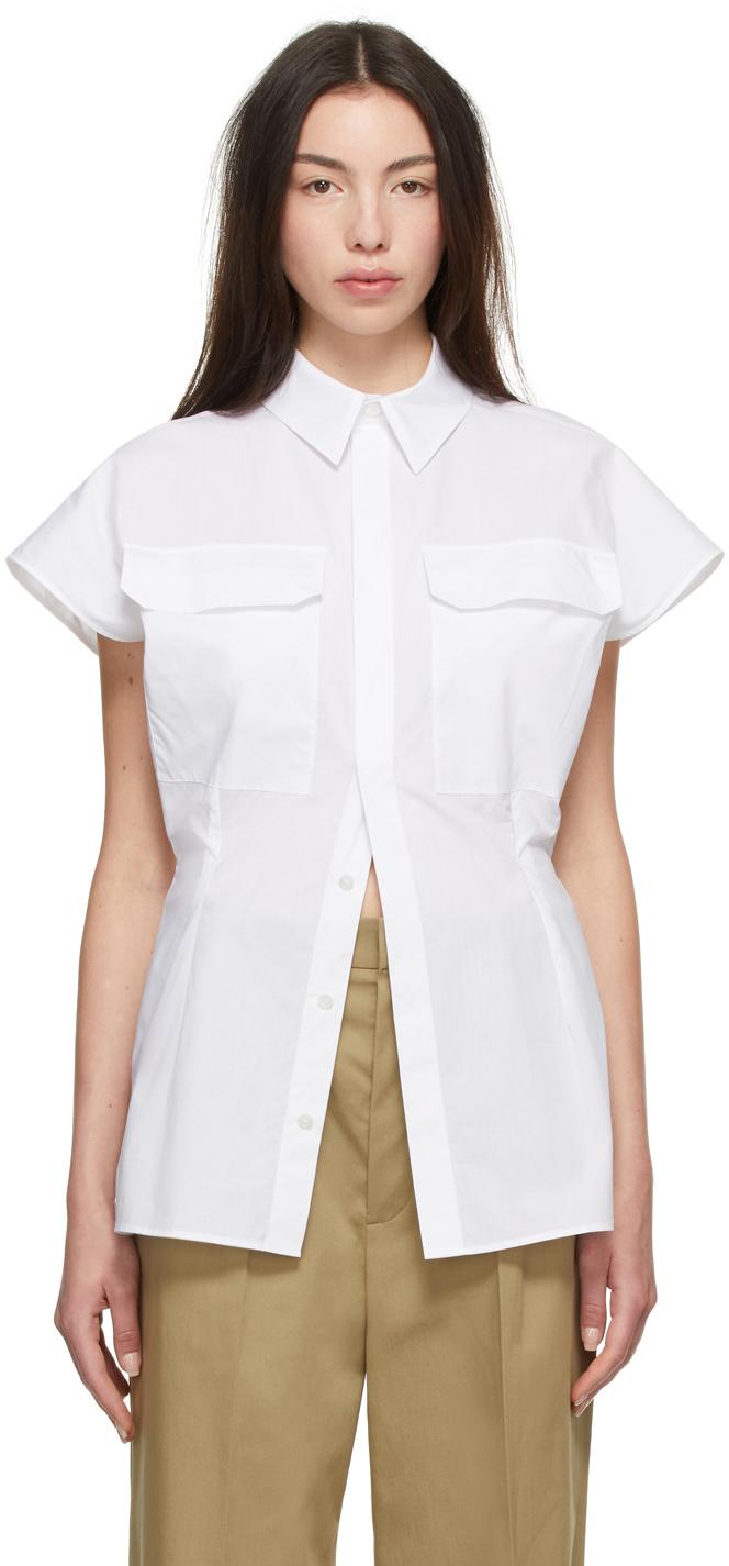 White Tami Short Sleeve Shirt