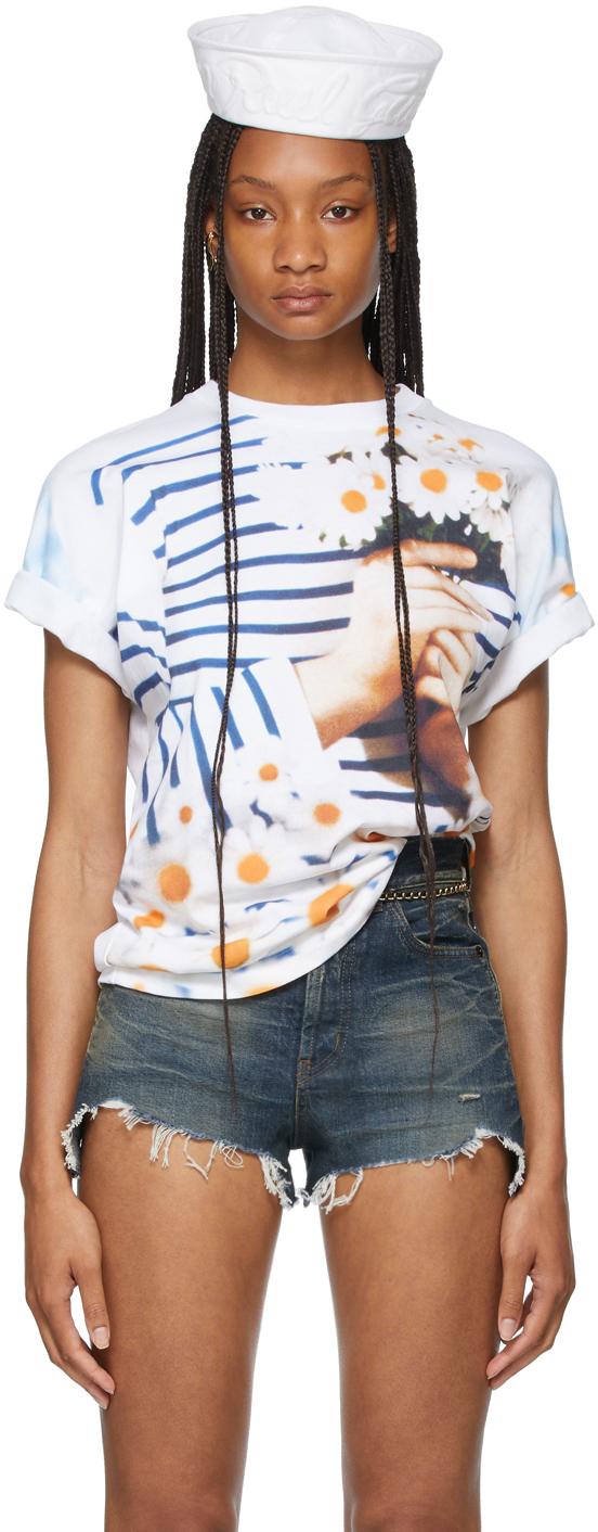 SSENSE Exclusive White Les Marins Pierre & Gilles T-Shirt