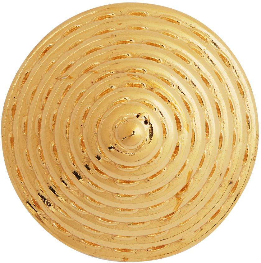 SSENSE Exclusive Gold Alan Crocetti Edition Cone Bra Pin