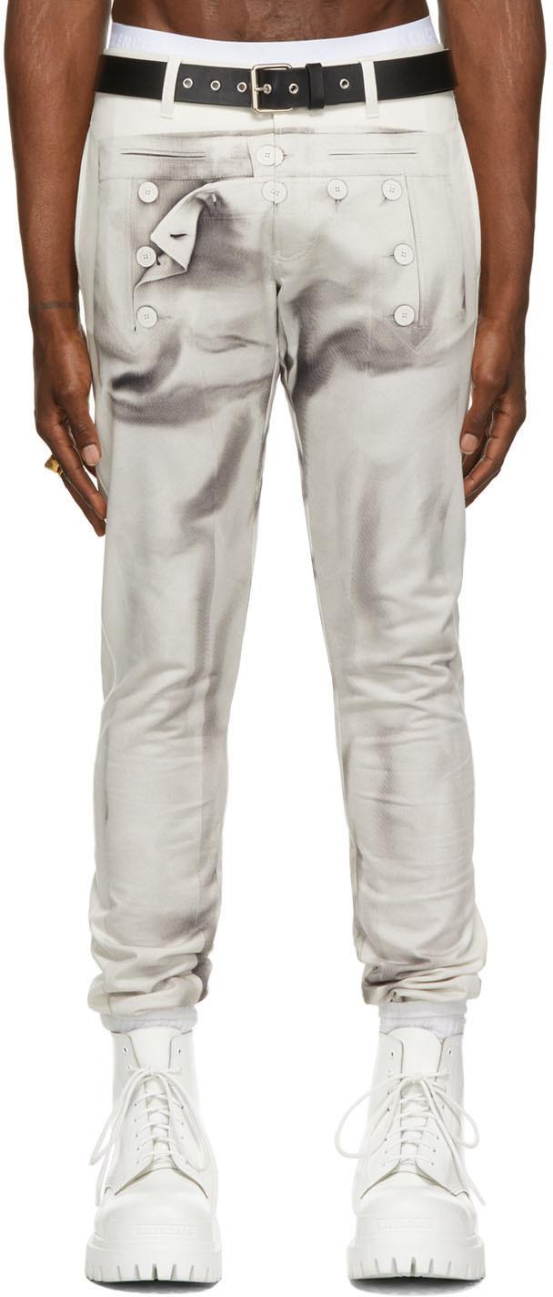 SSENSE Exclusive Off-White Les Marins Trompe L'œil Bridges Trousers
